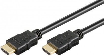 Goobay HDMI High Speed 4K + Ethernet, pozlatený, 2 m, Bulk